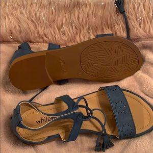 Tie around ankle sandals